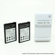 2 x 1700mAh Battery for LG VS740 Fathom VS750 Ally Dock Charger