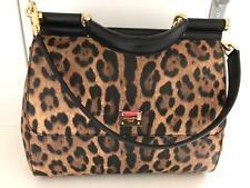 DOLCE & GABBANA Bag Large MISS SICILY Leopard Print Handbag NWT Luxury