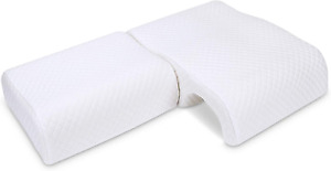 LITSPOT Couples Pillow, Memory Foam No Hands Pressing and Numb Arms Neck Pillows