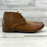 Men's Walk-Over Vintage Vaughn Chukka Brown Leather Desert Boots Size 10.5 M