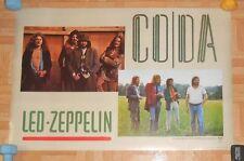Led Zeppelin Coda Promo Original 80s Poster 20x30