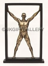 Muscular Male Semi Nude Man Bronze Sculpture by Veronese Studios 34cm Gift Idea