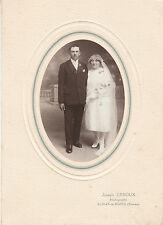 Photo ancienne mariage vendéen St Jean de Monts Joseph Leroux photographe