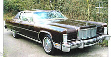 LINCOLN CONTINENTAL Coupe SPEC SHEET / Brochure: 1974,1975,1976,.......