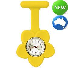 Silicone Frangipani Flower FOB Watch - Yellow