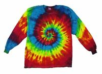 Multi Colored Spiral Electro Tie Dye Long Sleeve T Shirt New Never Worn USA