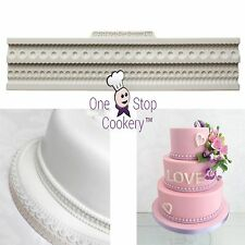 Katy Sue PEARL & ROPE BORDERS Silicone Sugarcraft Mould Creative Cake System