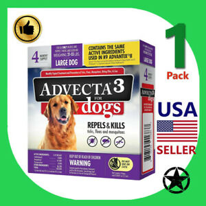 1 Pack Advecta 3 Flea & Tick Treatment LG Dog 21-55 Lb