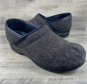Dansko Professional sz 41 charcoal gray women's shoe clog