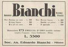 Z1120 Biciclette e Motocicletta BIANCHI - Pubblicità d'epoca - 1933 Old advert