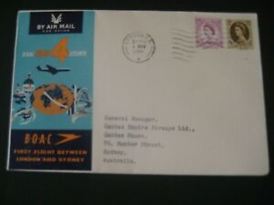 BOAC 1959 Comet 4 Jetliner First Day Cover.