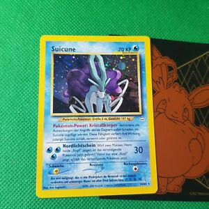 WoTC Rare Pokemon Card German Suicune Neo Revelation Holo 14/64 card karte NM