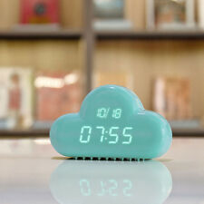 USB Cute Cloud Shape Shows Time Date Temperature Alarm Clock Good Gift For Girls