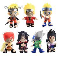 Naruto Plush Toys Hatake Kakashi Uchiha Sasuke Ninetales Fox Soft Stuffed Doll