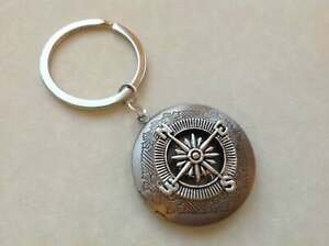Compass Keyring Locket,  Boyfriend Gift Husband Dad Friend Gift, Travel Guide