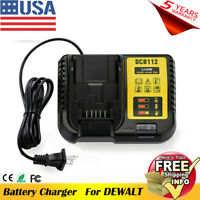 DCB112 Lithium-ion Battery Rapid Charger For Dewalt 12V-20V DCB115 DCB120 DCB200