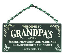 Welcome To Grandpas Memories Made Grandpa's Home & Garden Sign Gift New