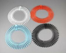 4 Flex spider headband hair comb teeth accordion stretch White Red Aqua Black