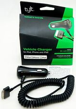 NEW TYLT iPod/iPhone 4s/4 iPad/2/3 Car Rapid Charger 30-Pin 5V 2.1A 9ft Cable