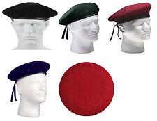 GI Military Army Style Eyelets No Flash Wool Beret Rothco 4907