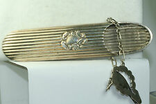 VICTORIAN ANTIQUE STERLING SILVER EYE GLASSES CHATELAINE CASE SPECTACLES