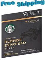 Starbucks Verismo Coffee Pods BLONDE ESPRESSO ROAST