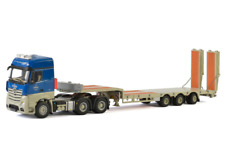 WSI 1/50 KIBAG Mercedes Actros MP4 Big Space 6x4 Extending Low Loader w Ramps