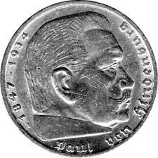 """5 Reichsmark Deutschland, 1938 A, """"Hindenburg"""" (Jäger: 367) Vorzüglich"""