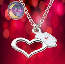 New Nurse Hat Heart Love Stainless Steel Necklace