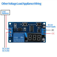 Regolabile LED Temporizzatore Modulo 12V DC Relay Cycle Delay Timer