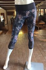 NWT LULULEMON If You're Lucky Crop Moody Mirage Naval Blue Bark Berry Sz 6