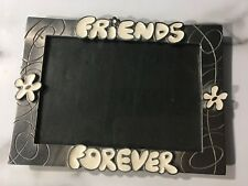 RETRO LOOKl Friends Forever Silver Flower Metal Frame SO CUTE!