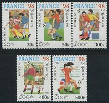 "LAOS N°1220/1224** Football ""France 98"" , 1997 World Cup Soccer  Set MNH"
