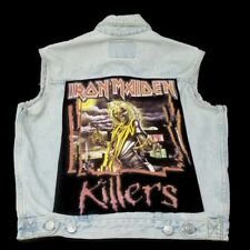 Vintage Iron Maiden Killers Denim Vest Handmade Pantera and led Zeppelin Patches