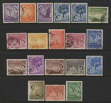 Seychelles 1954 - 1961 QEII Values Set Used