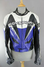 AGVSPORT LEATHER RACING BIKER JACKET WITH REMOVABLE BACK PROTECTOR 38 INCH