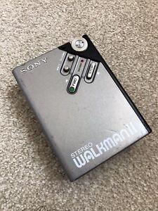 Sony Walkman WM-2 vintage portable cassette tape player WORKS RARE W/FWD Button