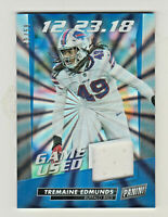 2019 PANINI DAY KICKOFF BURST FOIL GAME USED PATCH RELIC TREMAINE EDMUNDS 48/50