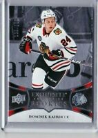 2018-19 UPPER DECK EXQUISITE DOMINIK KAHUN ROOKIE /299 R3 BLACKHAWKS PD