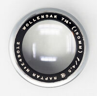 Wollensak 190mm F4.5 Raptar Lens Fixed Aperture High Speed Portrait Lens