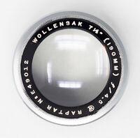 Wollensak 190mm F4.5 Raptar Lens Fixed Aperture High Speed Portrait Lens