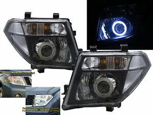 FRONTIRE NAVARA D40 MK2 2005-2010 COB Projector Headlight Black for NISSAN RHD