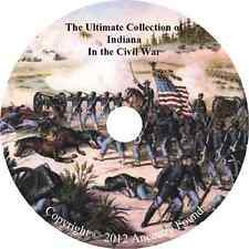 Indiana Civil War Books - History & Genealogy - 46 Books on DVD