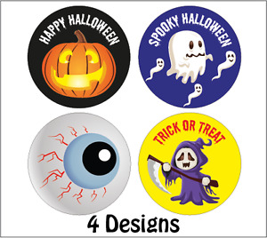 144 x Halloween Stickers -Trick Or treat Gifts - Mixed pack, Pumpkin, Witch