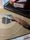 Spyderco Delica HAP40/SUS410, Mahogany Pakkawood Handles, KnifeCenter Exclusive
