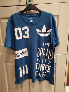 Adidas Trefoil Blue Men's tshirt, size L Fast Post!