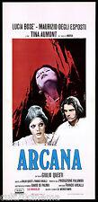 ARCANA LOCANDINA CINEMA DE SETA LUCIA BOSE' HORROR ITALIA 1972 PLAYBILL POSTER