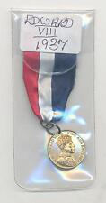VERY RARE.MEDAL.EDWARD VIII.CORONATION 1937.25MM COLLECTABLE.