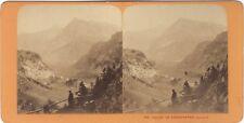 Vallée de Kandersteg Suisse Photo J. Andrieu Stereo Vintage Albumine ca 1868