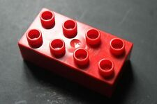 LEGO® Duplo - 5 X  Basic Bricks - briques 2 base -  Basic Stein - rouge 2x4